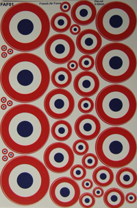 French Air Force Roundels A5