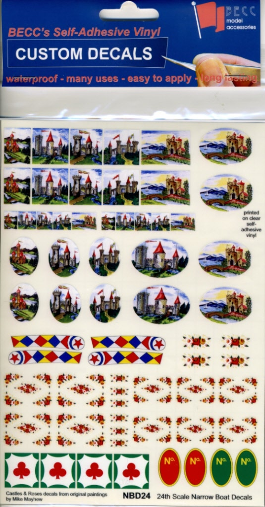 Canal Boat Miniature Model Signs Narrow Boat Decals
