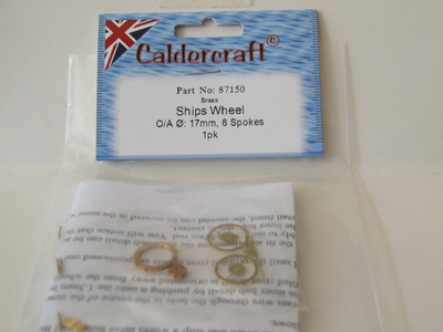 Brass Ships Wheel 1:64 17mm